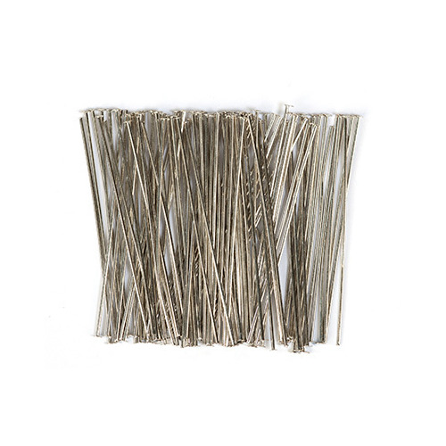 10317-4501 Head pin, 45mm, Platinum, 100pcs/header bag