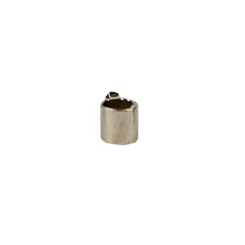 12024-0001 Knijpkralen zilver, tube, 1.5x1.5mm, Platinum, 100pcs