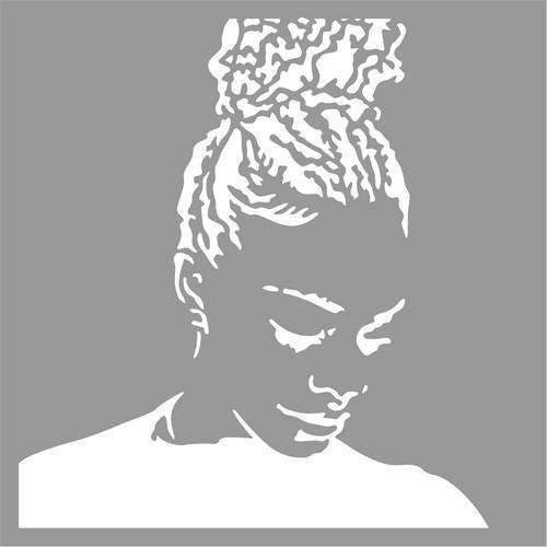 Pronty Mask stencil Silhouette girl 470.801.048 15x15cm (12-17)