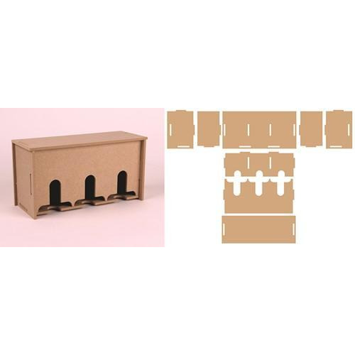 Pronty MDF 3D Teabox 460.423.740 216,4x83,6x110mm (12-17)