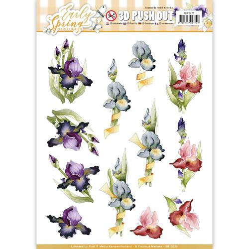 3D Pushout - Precious Marieke - Early Spring - Early Irises