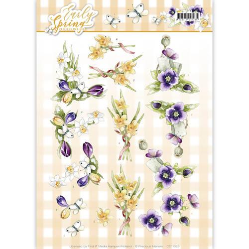 3D Knipvel - Precious Marieke - Early Spring - Early Daffodils