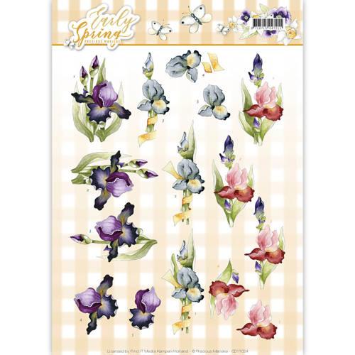 3D Knipvel - Precious Marieke - Early Spring - Early Irises