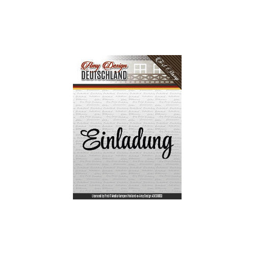 Amy Design -  Einladung - Textstamp