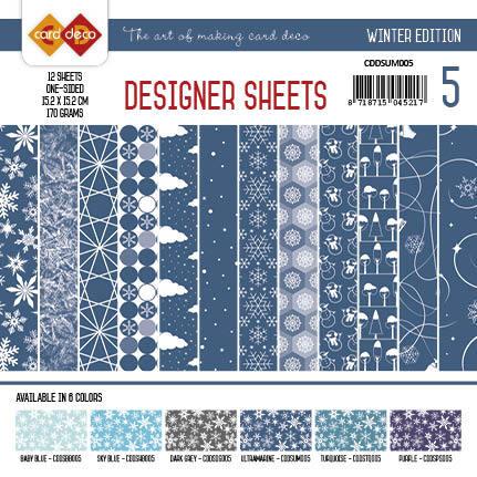 Card Deco - Designer Sheets - Winter Edition ultramarijn