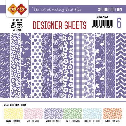 Card Deco - Designer Sheets - Spring Edition violet