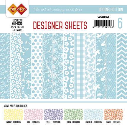 Card Deco - Designer Sheets - Spring Edition lichtblauw