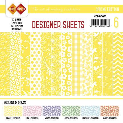 Card Deco - Designer Sheets - Spring Edition kanariegeel