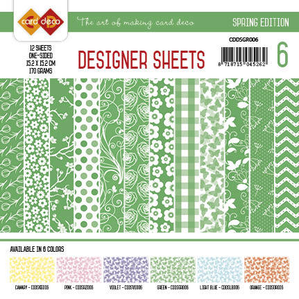Card Deco - Designer Sheets - Spring Edition groen
