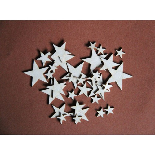 Filigranki Laser Cut Chipboards STARS set 32 pcs