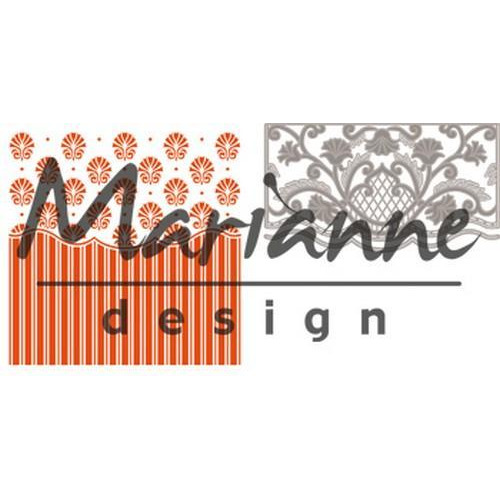 Marianne D Embossing folder + die Anja`s ornamental DF3443 (01-18)