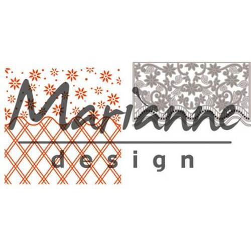 Marianne D Embossing folder + die Anja`s flower border DF3444 (01-18)