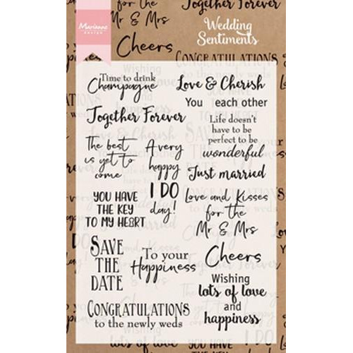 Marianne D Clear Stamp Wedding sentiments (EN) CS0999 (01-18)