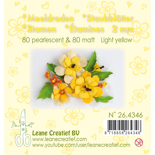 Meeldraden- pearl light yellow