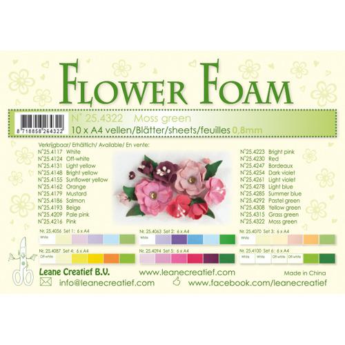 Flower foam sheets a4 moss green