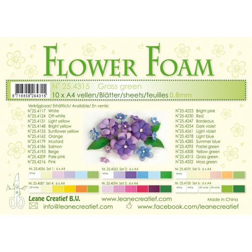 Flower foam sheets a4 grass green