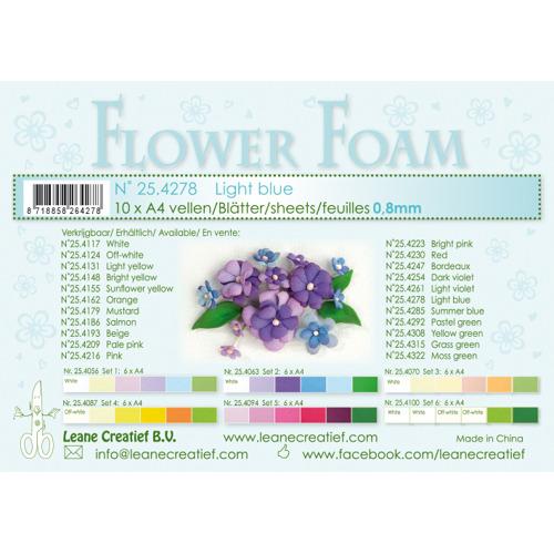Flower foam sheets a4 Light blue