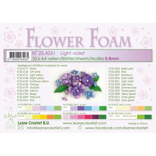 Flower foam sheets a4 Light Violet