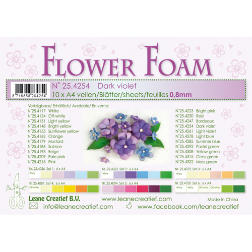 Flower foam sheets a4 Dark Violet