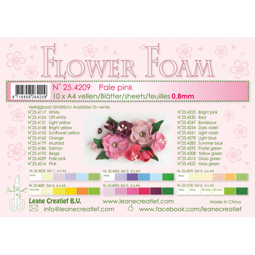 Flower foam sheets a4 Pale pink