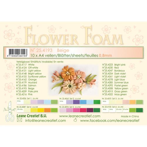 Flower foam sheets a4 Beige