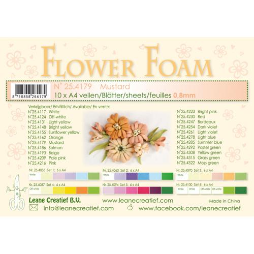 Flower foam sheets a4 mustard