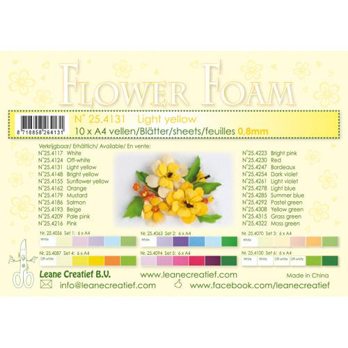 Flower foam sheets a4 Light yellow