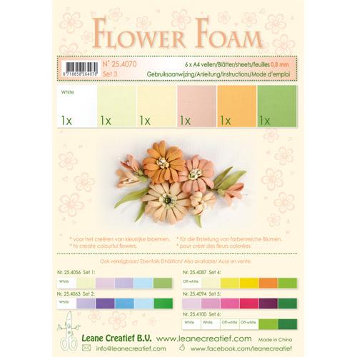 Flower foam assortment set 3 Salmon