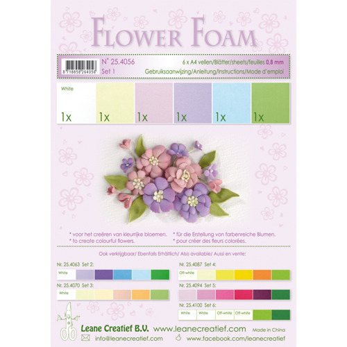 Flower foam assortment set 1 pastel