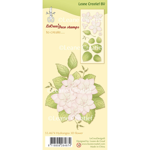 Clear Stamp Hydrangea 3D Flower