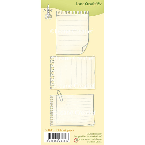 Clear Stamp Notebook pages