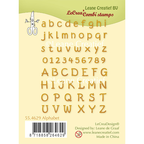 Clear Stamp Alphabet and numbers