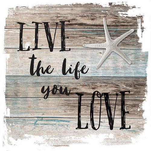 CraftEmotions servetten 5st - Live the life 33x33cm Ambiente 13311510