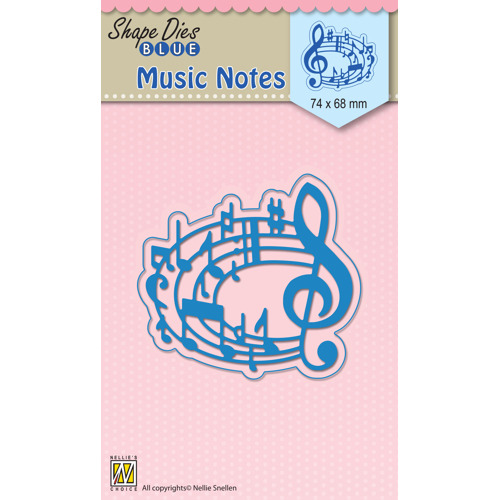 "Shape Dies blue ""Musical notes"""