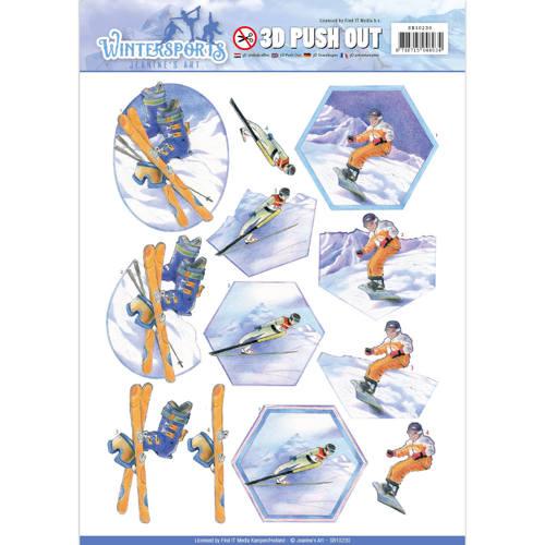 Pushout - Jeanine`s Art - Wintersports - Snowfun