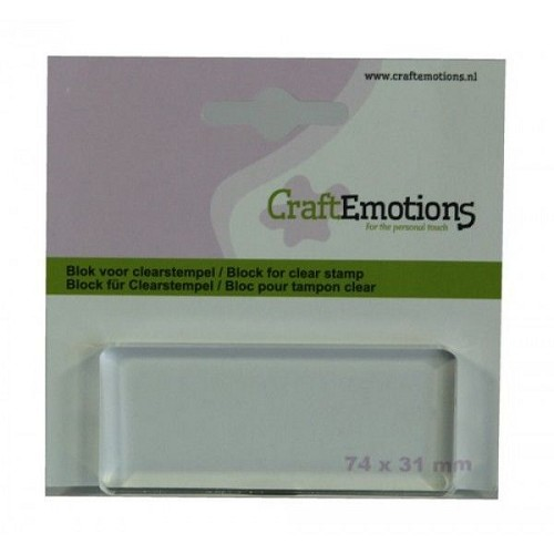 craft emotions -block voor clearstempel