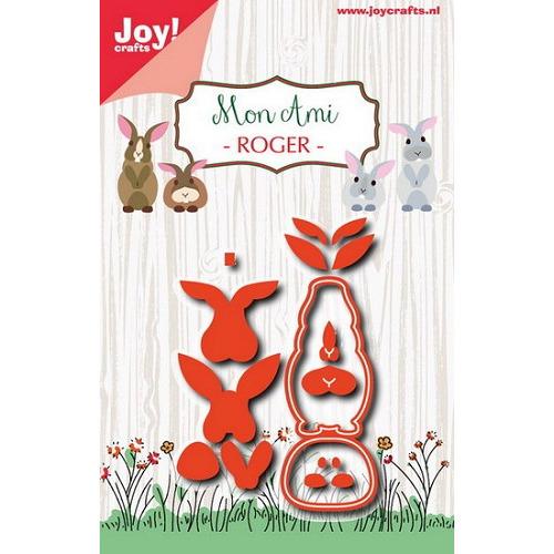 Joy! stencil Mon Ami Roger konijn