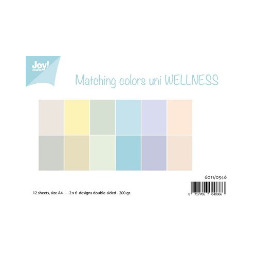 Joy! papierset matching colours uni wellness