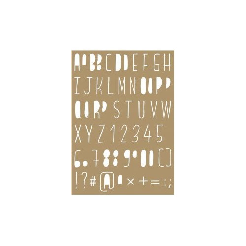 Maskstencil polybesa - Lettering stencils