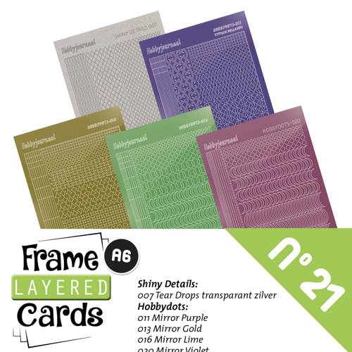 Frame Layered Cards 21 - Stickerset