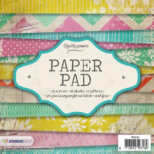 Studio Light Paper pad 36 vel 12 designs nr 66 PPSL66 15x15 cm