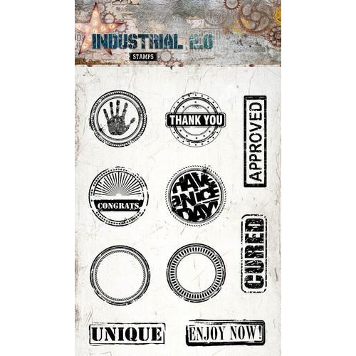 Clearstempel A6 Industrial 2.0 nr 255 STAMPIN255 (01-18)