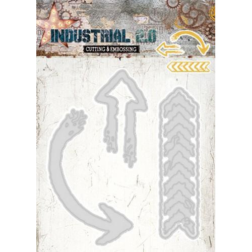 Embossing Die Cut Stencil Industrial 2.0 nr 70 STENCILIN70 105 x 148 mm (01-18)