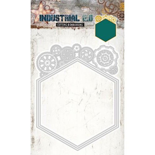 Embossing Die Cut Stencil Industrial 2.0 nr 72 STENCILIN72 160 x 265 mm (01-18)