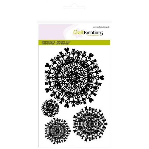 CraftEmotions clearstamps A6 - mandala hart (new 01-18)