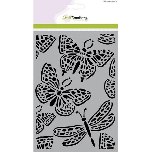 CraftEmotions Mask stencil - vlinder groot A5  (new 01-18)