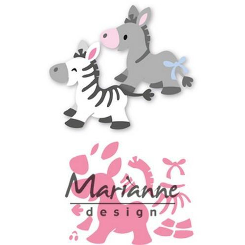 Marianne D Collectable Eline`s zebra & donkey COL1447 (02-18)