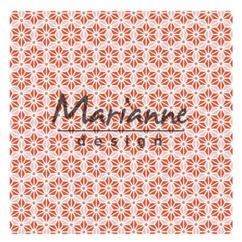 Marianne D Embossing folder 3D - Japanese star DF3445 (02-18) 14,1x14,1cm