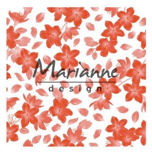 Marianne D Embossing folder 3D - Blossom DF3446 (02-18) 14,1x14,1cm