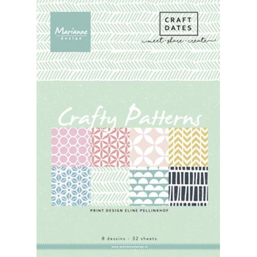 Marianne D Paper pad Crafty Patterns A5 PB7054 (02-18)